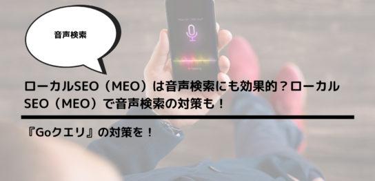 ローカルSEO(MEO)は音声検索にも効果的?ローカルSEO(MEO)で音声検索の対策も!